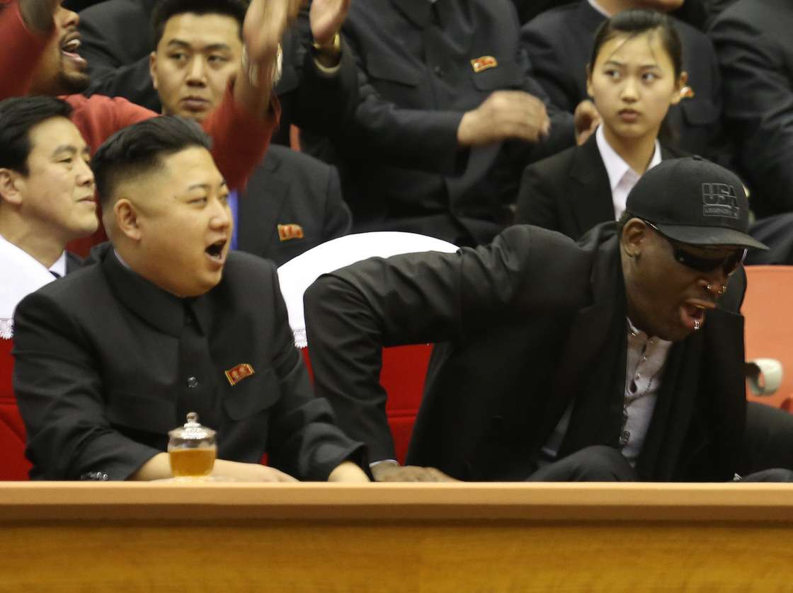 Us Basketball Player Rodman: I Did a Lot to Ease Tensions between Us President Donald Trump and Kim Jong-Un, the Korean President