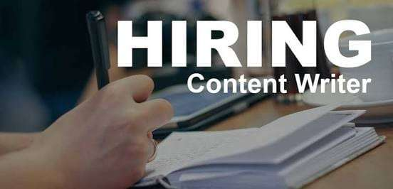 Hiring Content Writers High Salary