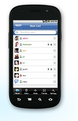 Android donamix chat app