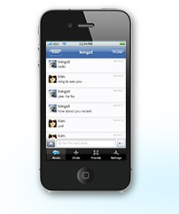 iPhone donamix chat app