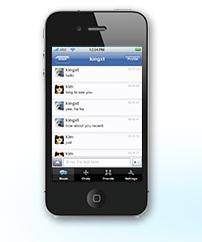 iPhone donamix chat app